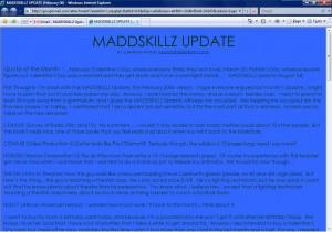 MADDSKILLZ Update (February 06)