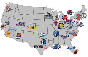 List of Synonyms and Antonyms of the Word: nba map