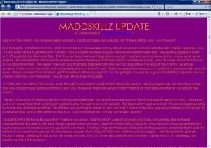 MADDSKILLZ Update (April 06)