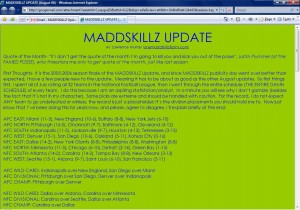 MADDSKILLZ Update (August 06)
