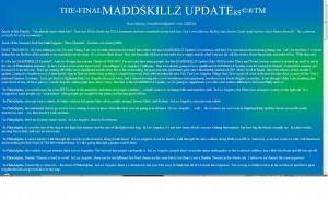 MADDSKILLZ Update (August 2010)