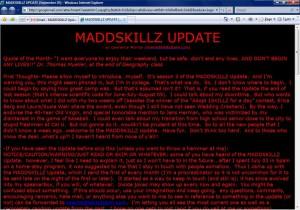 MADDSKILLZ Update (September 05)