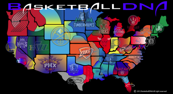 NBA Map Skillznetworksunitednet - Nba teams map