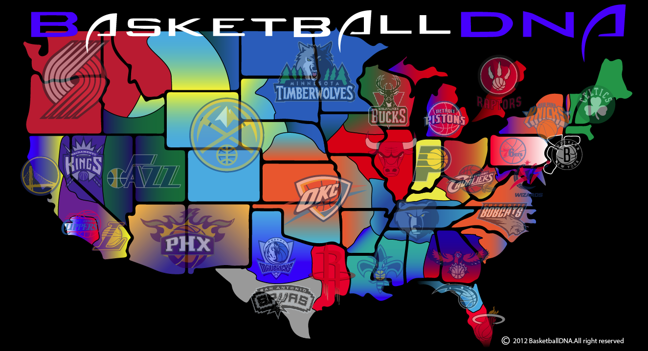 Nba Divisions Map For Pinterest