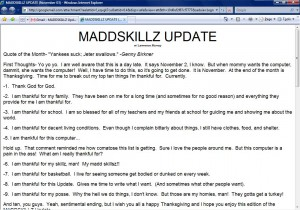 MADDSKILLZ Update (November 03)