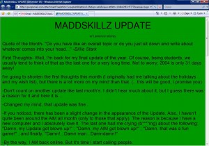 MADDSKILLZ Update (December 03)