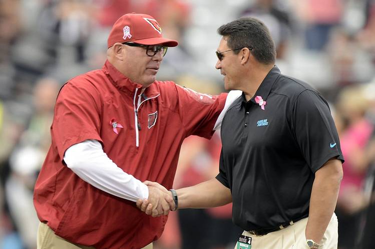 It's a safe bet that either Arizona head coach Bruce Arians or Carolina head coach Ron Rivera will win Coach of the Year - Rivera won it in 2013, while Arians won it last year and in 2012. (PC: MCT/ZUMA PRESS)