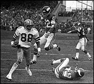 41 Decembers ago, the Cowboys won at Minnesota after Drew Pearson caught a Hail Mary from Roger Staubach. Can Minnesota CB Xavier Rhodes hold Dallas' current #88 (Dez Bryant) out of the end zone at U.S. Bank Stadium? (PC: AP/Star Tribune)